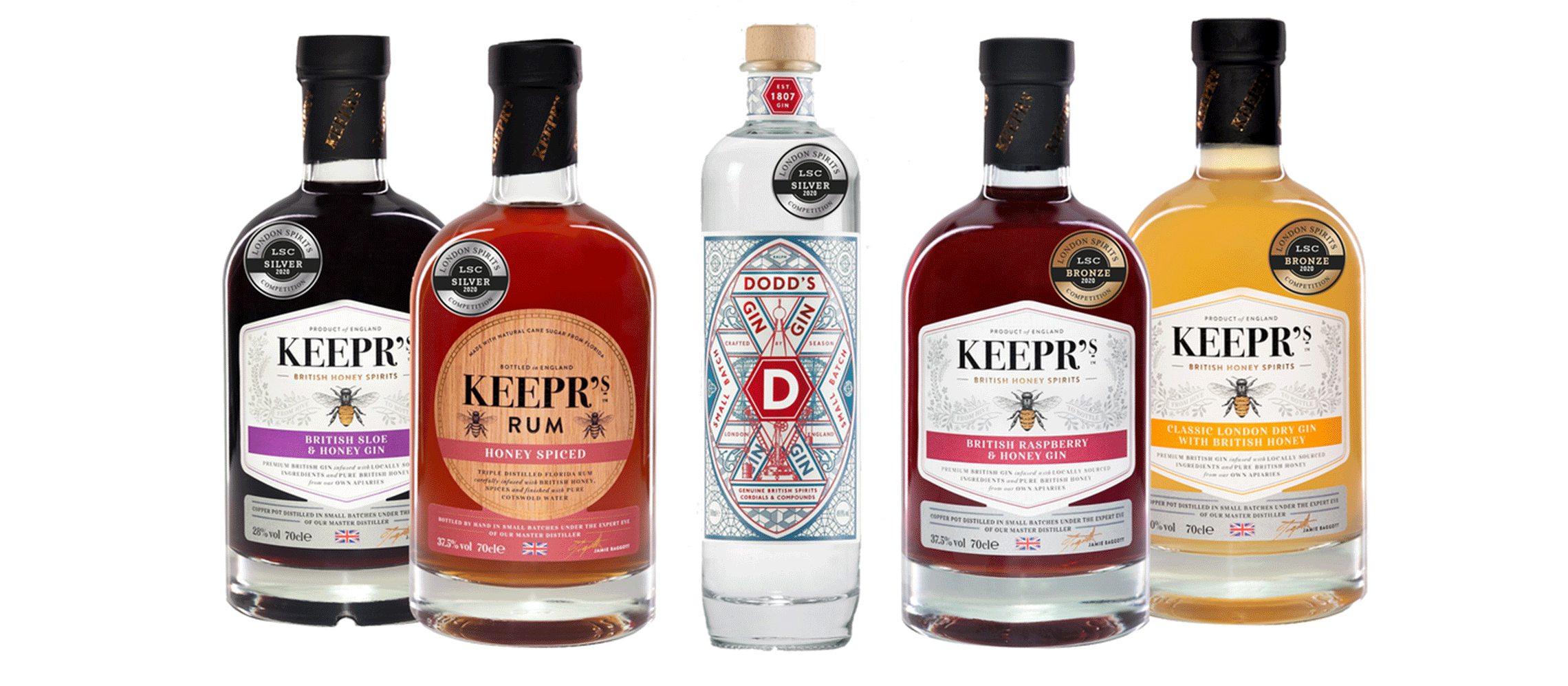 Photo for: Keepr's Spirits And Dodd's Gin Shine Bright At London Spirits Competition
