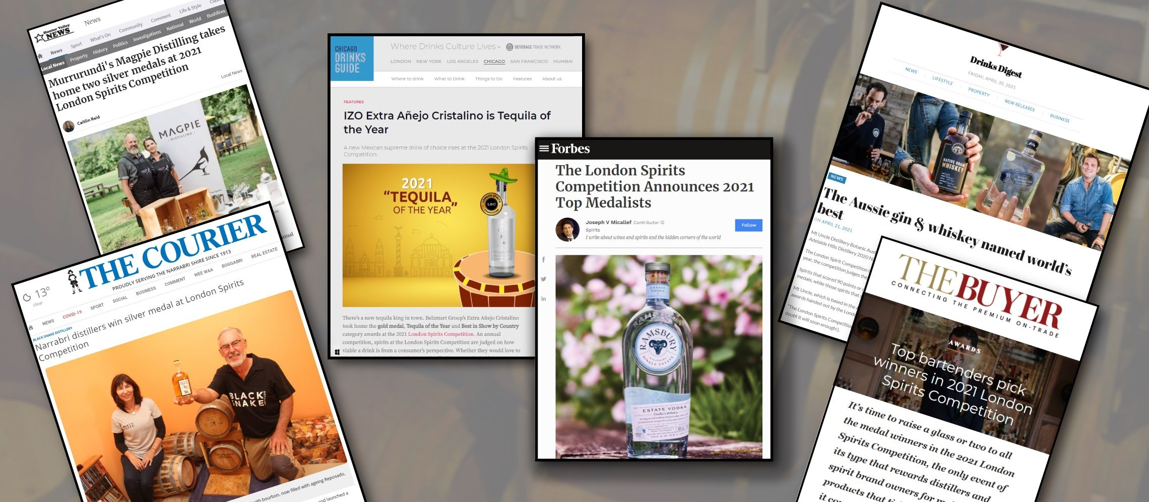 Photo for: London Spirits Competition Winners Press Coverage