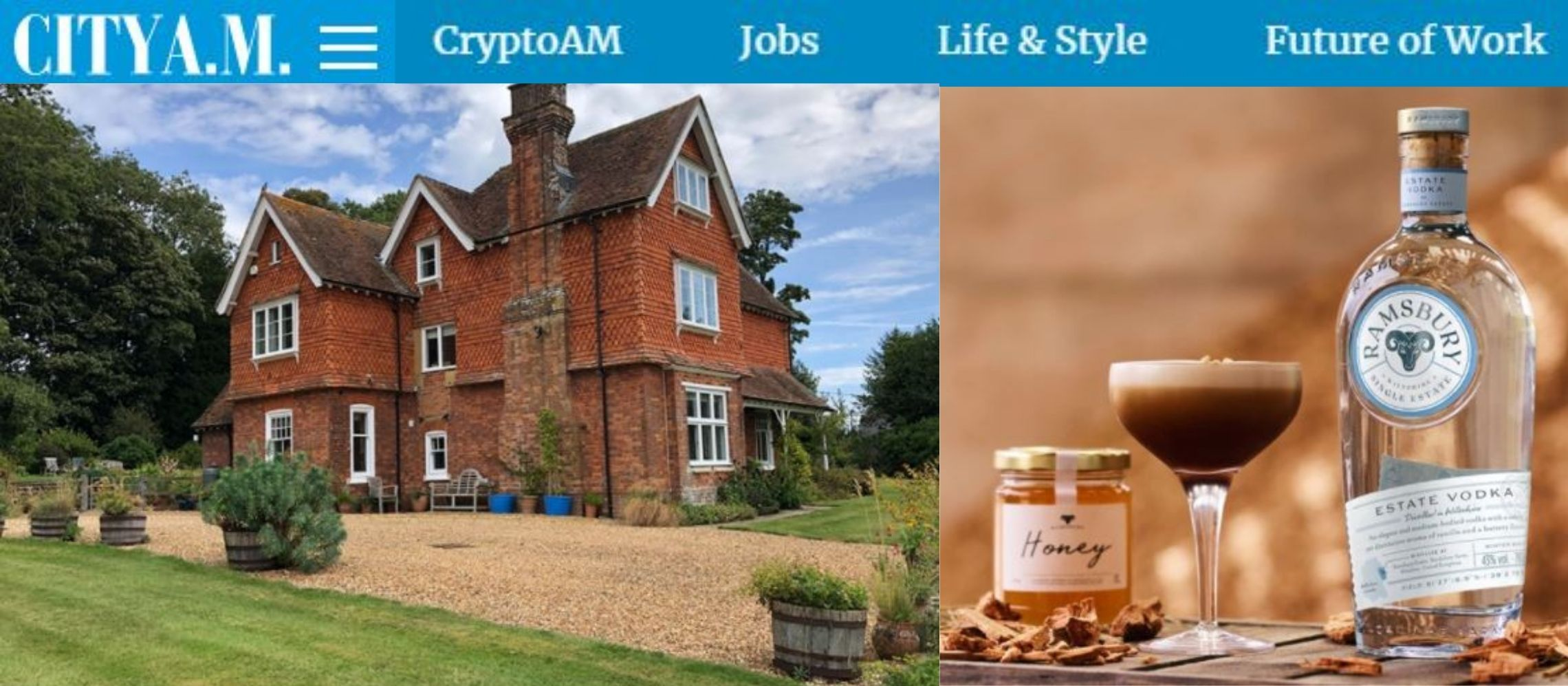 Photo for: Ramsbury Estate beats Russia and the US to win top vodka prize via Cityam