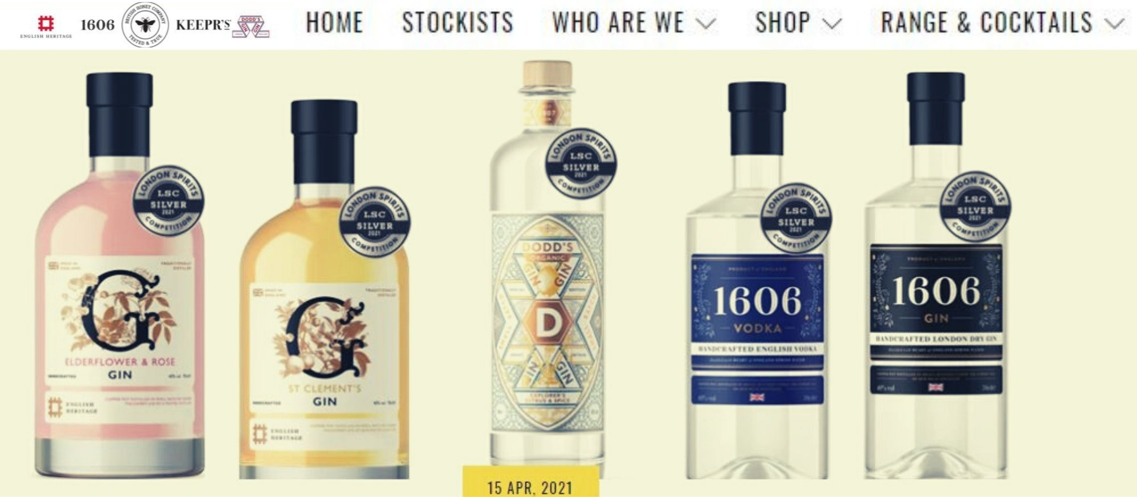 Photo for: Silver Medals for five of our Newest Releases at the London Spirits Competition 2021 Via British Honey PR